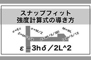 スナップフィット(嵌合つめ)│ひずみを使った強度計算式の導き方