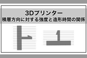 3Dプリンターの積層方向に対する強度と造形時間の関係